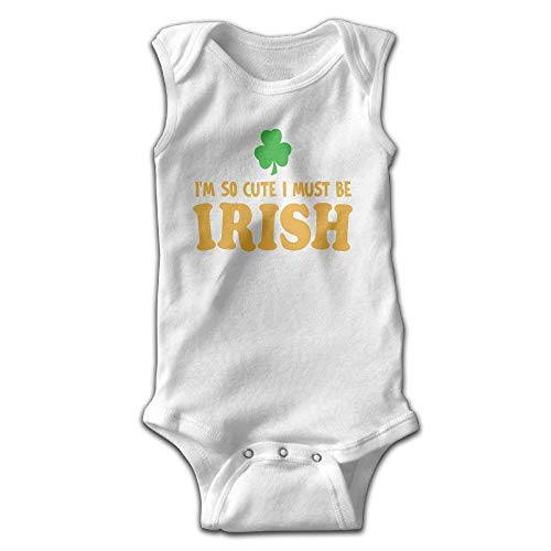 Irish Baby-outfits (So Cute I Must Be Irish Cotton Baby Infant Bodysuit Sleeveless Outfit)