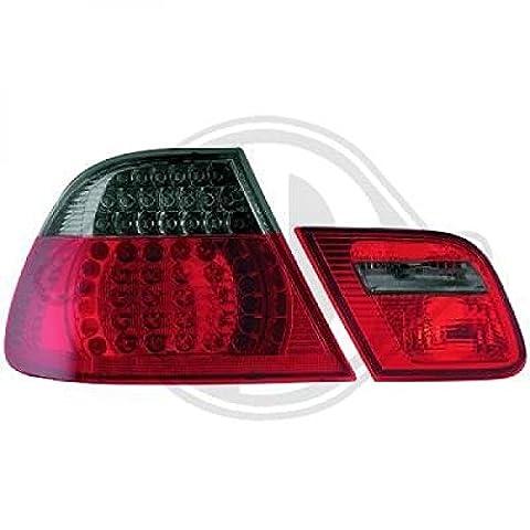 Set Feux arrière LED BMW (E46) Coupe verre transparent/rouge/noir