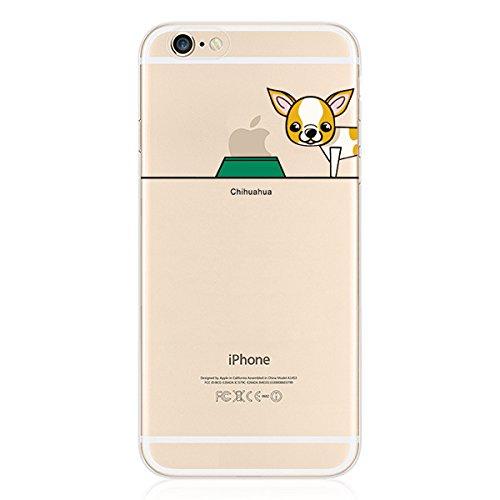 Hartschale Hochwertiger iPhone 5/5S–Hund Dog Pug Chihuahua Bull witziges Design Swag Motiv Design Case + mit Displayschutzfolie chihuahua