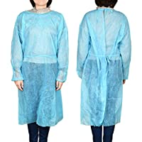 Exceart 10pcs Isolation Gowns Non-woven Gowns Disposable Medical Protection Coveralls for First Aids Doctors Nurse No Latex Lab Hospital Supplies