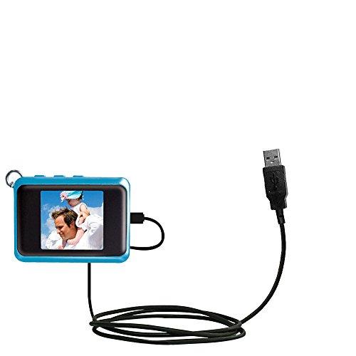 Klassisches Direkt-USB-Kabel für Coby DP151 keychain frame mit Power Hot-Sync und Ladekapazitäten Verwendet die TipExchange Technologie Flugzeug-kabel Keychain