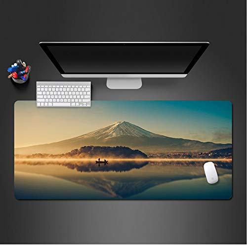 sxkdyax Tapis de Souris Tapis de Souris HD Snow Mountain Fond d'écran Bureau Ordinateur Clavier Souris Ordinateur Gamer Mat Player Game Mouse pad-80CMX40CM