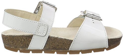 Clarks Volkin Icon, Sandales fille Blanc (White Patent)