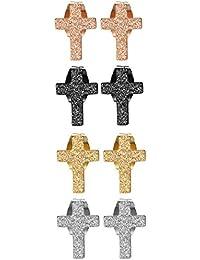 Amazon Fr Boucle D Oreille Homme Croix Aroncent Bijoux