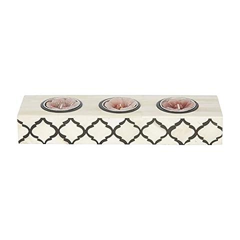 Kunsthandwerk Home Teelichthalter Kerzenhalter maurischen Damast Marokkanische Kunst inspiriert Geschenke, schwarz / weiß,