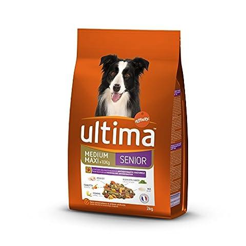 Ultima Croquettes pour Chien Medium-Maxi Senior Poulet, Fruit et Legumes Riche en Antioxydants Naturels 2
