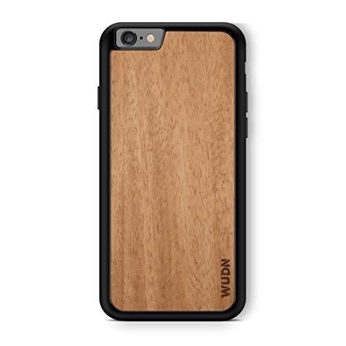 Klassische Mahagoni-finish (Slim & Leicht Handarbeit Holz iPhone Fall mit Schutzhülle Schwarz Schale, iPhone 6/6s Plus, Mahagoni)