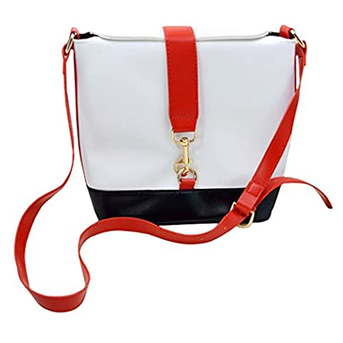 Millya Women Vintage Leather Bucket Style Cross-body Bag Casual Buckle Messenger Bag