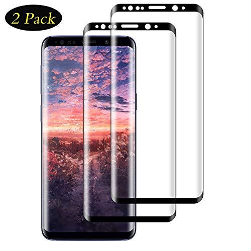 DOSMUNG Panzerglas Schutzfolie für Galaxy S9, [2 stück] 3D Volle Bedeckung Panzerglasfolie für S9, Anti- Kratzer, Bläschenfrei, 9H Härte, HD-Klar Displayschutzfolie für Galaxy S9 - Schwarz