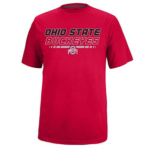 J America Ohio State Fast Break Herren T-Shirt Ohio St, Größe M, Rot (Football-t-shirt State Ohio)
