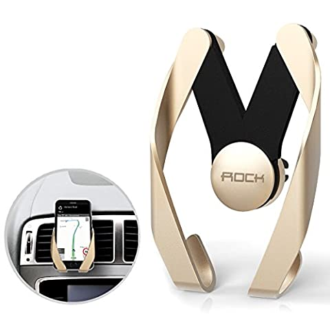 Car Phone Holder, Lafedy Car Mount Air Vent Car Cradles Adjustable Size Lightweight ABS Material Anti-scald for iPhone 6S/6s Plus/6/6 Plus/5S/5C/SE, Galaxy Note 4/3 and Other Phone