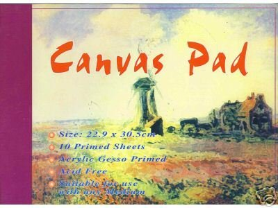 Canvas Pad Maltuch Block 22,9 x 30,5cm 10 Blatt Canvas Pad