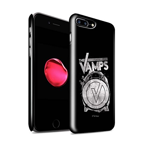 Offiziell The Vamps Hülle / Glanz Snap-On Case für Apple iPhone 7 Plus / VVV Muster / The Vamps Graffiti Band Logo Kollektion Bassdrum
