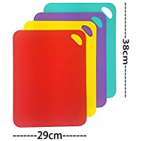 Large Chopping Board Set Colour Coded Non Slip Antibacterial Non Stick Chopping Boards ...