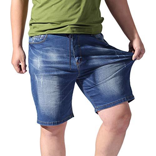 Cargo Shorts Männer 3/4,WQIANGHZI Herren Sport Joggen und Training Jeans-Shorts Denim Fitness Kurze Hose Jogging Hose Bermuda Reißverschlusstasch Pants -