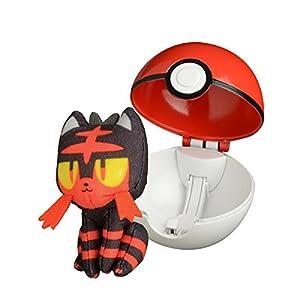 Bandai - Pokémon - Lanzador Poké Ball y su Peluche Flamiaou - 81239