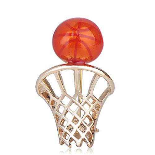 eine Basketball Net Rückwand Form Broschen Emaille Schmuck Pins Für Männer Frauen Geschenk Hemd Kleidung Tasche Zubehör ()