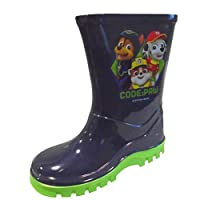 Boys Official PAW Patrol Wellies Navy Blue Wellington RAIN Snow Boots Size 5-10