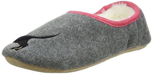 Joules Women's Slippets Slipper, Cream Fox