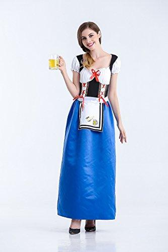 Ruanyi Deutsche Oktoberfest-Kleidung-deutsches Bayerisches Bier-traditionelles Halloween-Kostüm für Frauen (Size : M)
