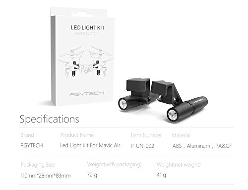 Faironly LED-Lampe Licht Night Vision Searching Guide f¨¹r D-JI Mavic Air Zubeh?r ohne Batterie - Nite-licht-lampe