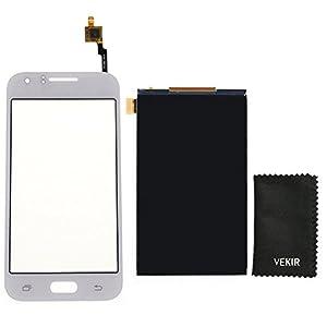 LCD-Bildschirm Ersatz + Touch Glas-Screen-Ersatz Kompatibel mit Samsung Galaxy J1 J100 (weiß) VEKIR Retail Verpackung
