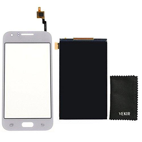 VEKIR LCD-Bildschirm Ersatz + Touch Glas-Screen-Ersatz Kompatibel mit Samsung Galaxy J1 J100 (weiß) Retail Verpackung