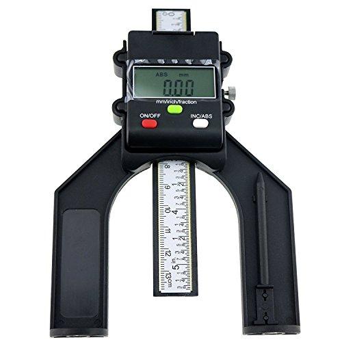 Mitre Box Saw (Digital 80mm (3 1/8 Zoll) Handfraser Selbststehende Aperture Tread Tiefenmesser Magnetische Fuse)
