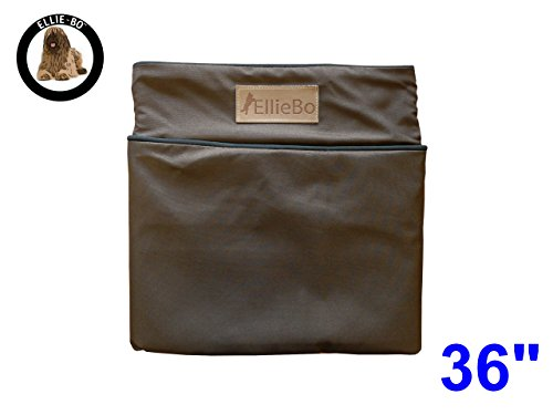 Ellie-Bo 87 x 57 x 10 cms Large Replacement Waterproof Dog Bed Cover in brown with Black Piping 1