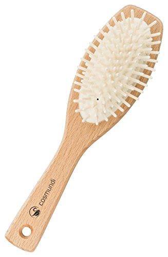 cosmundi vegane Haarbürste mit Echtholzstiften zur Kopfmassage in kunststoffreier Verpackung - hergestellt in Deutschland - 2