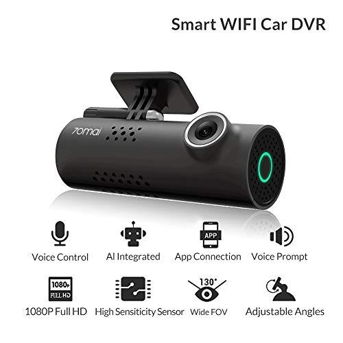 41qP aaUxAL - Xiaomi 70mai Smart Dash CAM con WiFi Incorporado, con Control de Voz, grabación de Emergencia, Panel de Control de App, HD 1080P, Gran Angular de 130 ° con visión Nocturna, G-Sensor, DVR automóvil