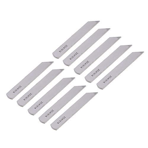 perfk Messersatz 10 Stück Untermesser passend für Pegasus W600 Overlock - Industrie Nähmaschine -