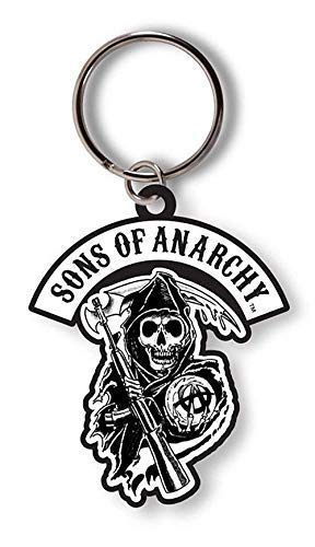 Sons of Anarchy - Reaper - Offiziell Gummi Schlüsselanhänger - Schwarz, OS