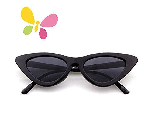 Sonnenbrille für Kinder, FOURCHEN Kids Flexible Rubber Sonnenbrille Polarisierte Sonnenbrille für Kinder, 100% UV-Proof-Sonnenbrille für Mädchen / Jungen, Kleinkind-Sonnenbrillen, Kinder-Sonnenbrillen (cat eye black-kid)