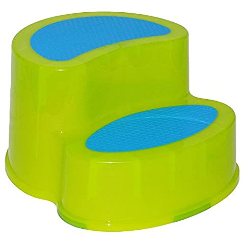 Trittschemel / Tritthocker / Kindersitz - groß - GRÜN - Kinderschemel & Kindertritt - ideal als Erhöhung & Sitz - Kinderhocker - auch für Toilettentrainer - für Kinder Mädchen Jungen