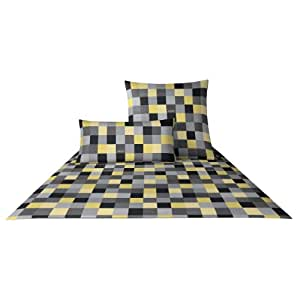 joop bettwaesche mako satin mosaik 4003 80x80 cm 135x200 cm k che haushalt. Black Bedroom Furniture Sets. Home Design Ideas
