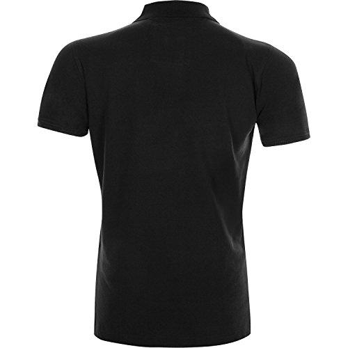 Venum Polo Shirt Classic - Sportlich elegante Herren Polo Shirts kurzarm Black