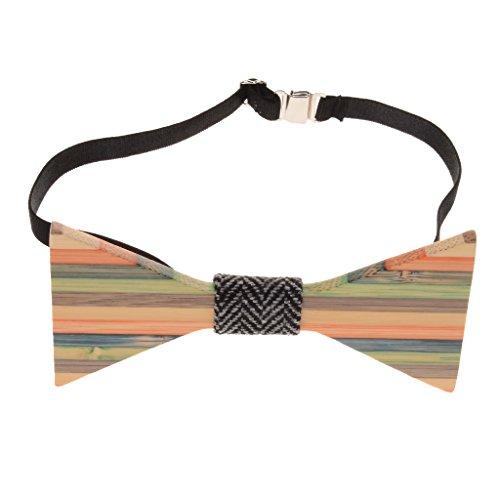 Cravate Fantaisie Noeud Papillon en Bois pr Tuxedo de Marié Mariage Homme Cadeaux Modèle D