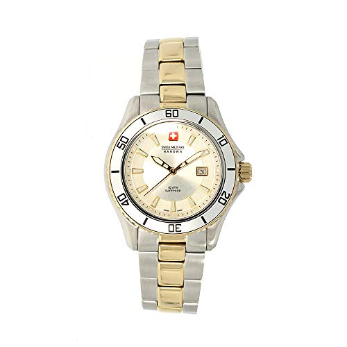 SWISS MILITARY-HANOWA Damen Analog Quarz Uhr mit Edelstahl Armband 06-7296.55.001