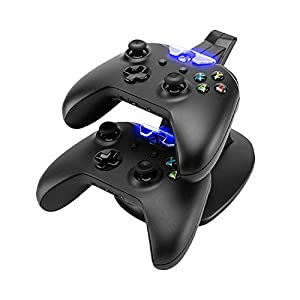 Eaxus®️ Ladestation für 2 x Xbox One Controller – ⚡ Docking Station mit LED Beleuchtung