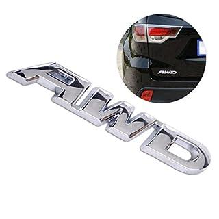 beler Universal Silber Metall Auto AWD Embleme Aufkleber Abzeichen