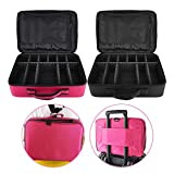 Makeup Case,3 Layers Port of Tricks Professionale Maquillaj Makeup Bag Organizer per Cosmetici Jewelry/Rossetto/Shadow Brush(Nero)