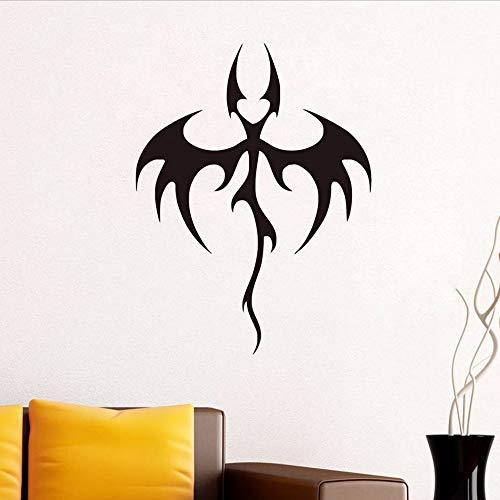 Waofe vendita calda animal wall decor adesivo in vinile rimovibile art tribal bat dragon stickers murali kids decoration in room decorazione domestica 57 * 44cm