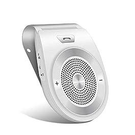 Kit Vivavoce Bluetooth da Auto Wireless Musica Adattatore Car Speakerphone per Aletta Parasole con Siri, Assistente…