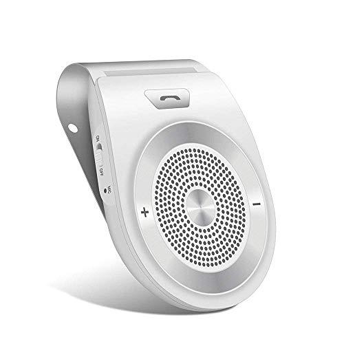 Aigital Kit Mains Libres pour Voiture Bluetooth avec instruction GPS / Musique, élimination du bruit, Instalation sur pare Soleil,Vous pouvez connecter deux téléphones en même temps