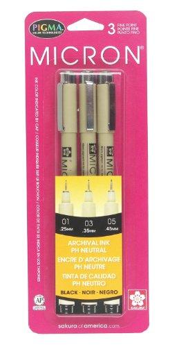 pigma-micron-pen-set-assortiti-taglie-3-pkg-nero