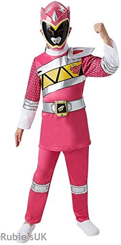 Fancy Me - Kinder Jungen Mädchen Kostüm Power Ranger Super Mega Force Helden Halloween Verkleidung - 5-6 Jahre, (Power Rangers Halloween)