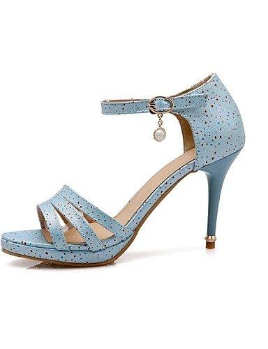 LFNLYX Chaussures Femme-Extérieure / Décontracté / Soirée & Evénement-Bleu / Rose / Rouge / Blanc-Talon Aiguille-Talons-Sandales-Similicuir Blue