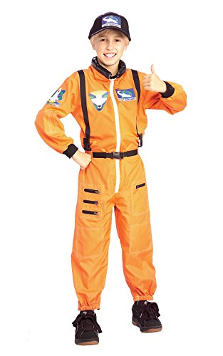 Astronaut Orange Kostüm Kinder (Astronaut - Kinder-Kostüm - Medium -)