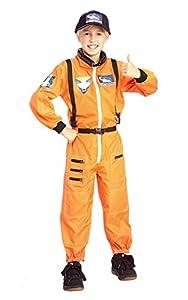 Boys Orange Astronaut Costume small 3/4 years (disfraz)